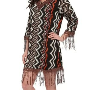 SULLY Fringed casual boho Tunic dress